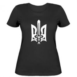 Женская футболка Герб з мечем - FatLine