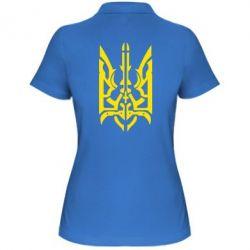 Женская футболка поло Герб з металевих частин - FatLine