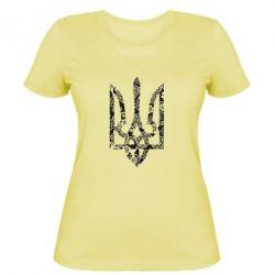 Женская футболка Герб з візерунками - FatLine