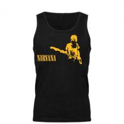 Мужская майка Гитарист Nirvana