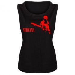 Женская майка Гитарист Nirvana