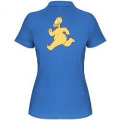 Женская футболка поло Голый Гомер Симпсон - FatLine