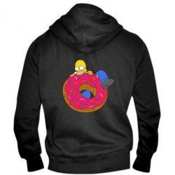 Мужская толстовка на молнии Гомер и Пончик