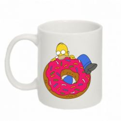 Кружка 320ml Гомер и Пончик