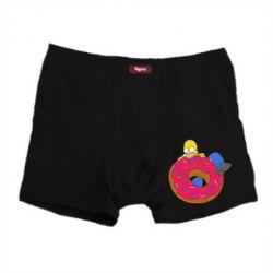 Мужские трусы Гомер и Пончик - FatLine