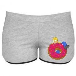 Женские шорты Гомер и Пончик