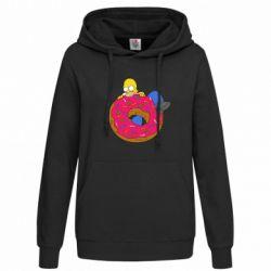 Женская толстовка Гомер и Пончик