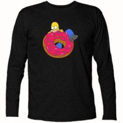 Футболка с длинным рукавом Гомер и Пончик