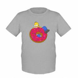 Детская футболка Гомер и Пончик
