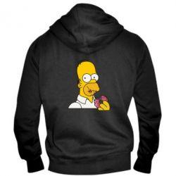 Мужская толстовка на молнии Гомер любит пончики - FatLine