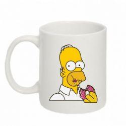 Кружка 320ml Гомер любит пончики - FatLine