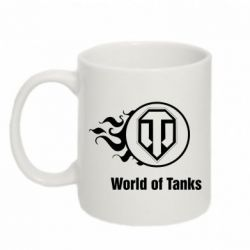 "Кружка 320ml Горящий логотип ""World of tanks"" - FatLine"