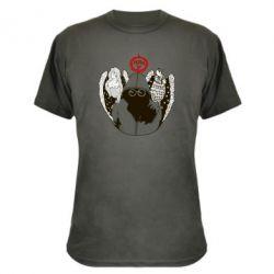 Камуфляжная футболка Говорун на левом плече, гамаюн на правом - FatLine