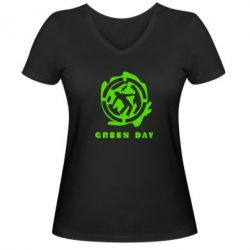 ������� �������� � V-�������� ������� Green Day Logo - FatLine