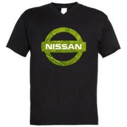 Мужская футболка  с V-образным вырезом Green Line Nissan - FatLine