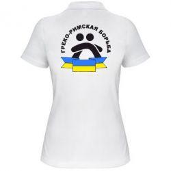 Женская футболка поло Греко-римская