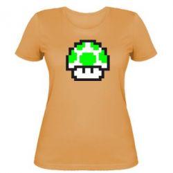 Женская футболка Гриб Марио в пикселях - FatLine