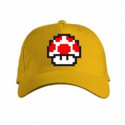 кепка Гриб Марио в пикселях - FatLine