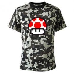 Камуфляжная футболка Гриб Марио в пикселях - FatLine