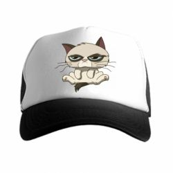 Кепка-тракер Grumpy Cat Art - FatLine
