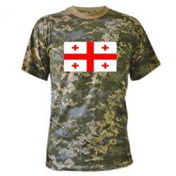 Камуфляжная футболка Грузия - FatLine