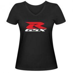 Женская футболка с V-образным вырезом GSX-R - FatLine