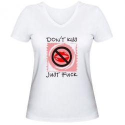 Жіноча футболка з V-подібним вирізом губки - FatLine