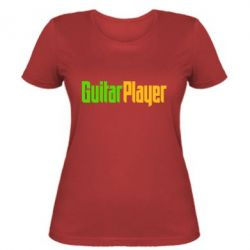 Женская футболка Guitar Player - FatLine