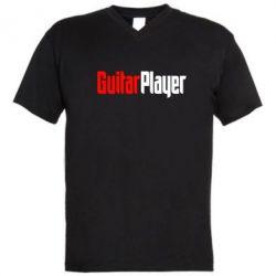 Мужская футболка  с V-образным вырезом Guitar Player - FatLine