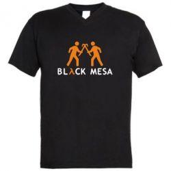 Мужская футболка  с V-образным вырезом Half Life Black Mesa - FatLine