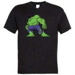 Мужская футболка  с V-образным вырезом Халк - FatLine