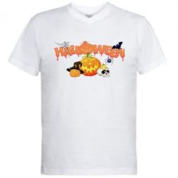 ������� ��������  � V-�������� ������� Halloween Logo - FatLine