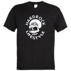 Мужская футболка  с V-образным вырезом Hardrock lifestyle - FatLine