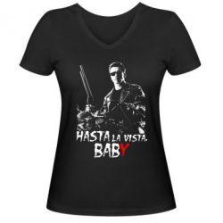 Жіноча футболка з V-подібним вирізом Hasta La vista, Baby