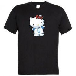 Мужская футболка  с V-образным вырезом Hello Kitty UA - FatLine