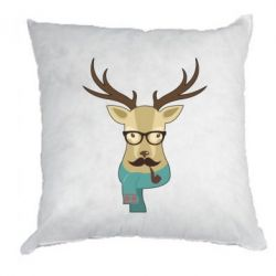 Подушка Hipster Christmas Deer - FatLine