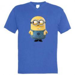 Мужская футболка  с V-образным вырезом Хитрый миньон - FatLine
