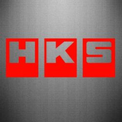 Наклейка HKS - FatLine
