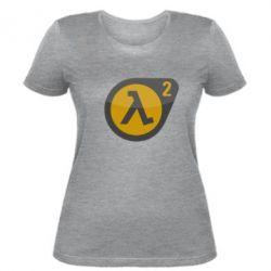 Женская футболка HL 2 logo - FatLine