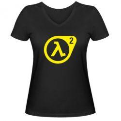 Женская футболка с V-образным вырезом HL2 - FatLine