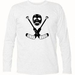 Футболка с длинным рукавом Хоккейная маска - FatLine