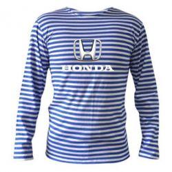 Тельняшка с длинным рукавом Honda 3D Logo - FatLine