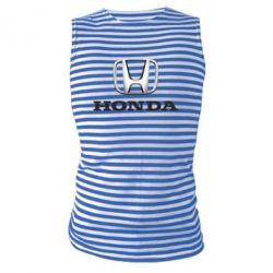 Майка-тельняшка Honda 3D Logo - FatLine