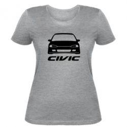 Женская футболка Honda Civic - FatLine