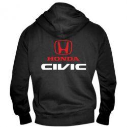 Мужская толстовка на молнии Honda Civic - FatLine