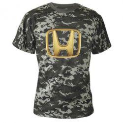 Камуфляжная футболка Honda Gold Logo - FatLine