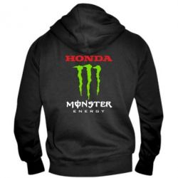 Мужская толстовка на молнии Honda Monster Energy - FatLine