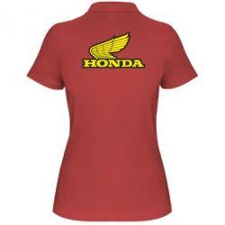Женская футболка поло Honda Vintage Logo - FatLine