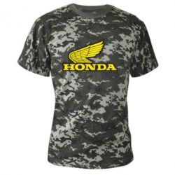 Камуфляжная футболка Honda Vintage Logo - FatLine