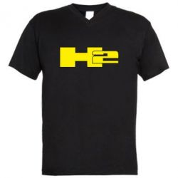 Мужская футболка  с V-образным вырезом Hummer H2 - FatLine